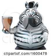 July 15th, 2018: Clipart Of A 3d Zebra Holding A Beer On A White Background Royalty Free Illustration by Julos