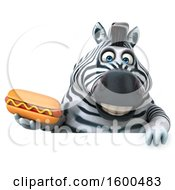July 15th, 2018: Clipart Of A 3d Zebra Holding A Hot Dog On A White Background Royalty Free Illustration by Julos