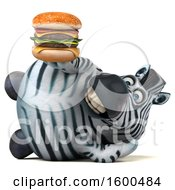 July 15th, 2018: Clipart Of A 3d Zebra Holding A Burger On A White Background Royalty Free Illustration by Julos