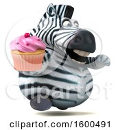 July 15th, 2018: Clipart Of A 3d Zebra Holding A Cupcake On A White Background Royalty Free Illustration by Julos