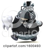 July 15th, 2018: Clipart Of A 3d Business Zebra Holding A Tooth On A White Background Royalty Free Illustration by Julos