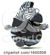Clipart Of A 3d Business Zebra Holding A Wrench On A White Background Royalty Free Illustration by Julos