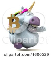 July 15th, 2018: Clipart Of A 3d Chubby Unicorn Holding A Bitcoin Symbol On A White Background Royalty Free Illustration by Julos