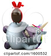 July 15th, 2018: Clipart Of A 3d Chubby Unicorn Holding A Chocolate Egg On A White Background Royalty Free Illustration by Julos