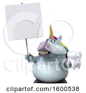 July 15th, 2018: Clipart Of A 3d Chubby Unicorn Holding A Tooth On A White Background Royalty Free Illustration by Julos