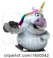 July 15th, 2018: Clipart Of A 3d Chubby Unicorn Holding A Camera On A White Background Royalty Free Illustration by Julos