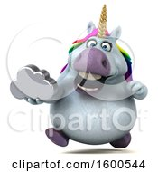 July 15th, 2018: Clipart Of A 3d Chubby Unicorn Holding A Cloud On A White Background Royalty Free Illustration by Julos