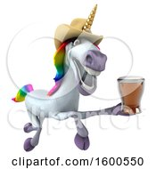 July 15th, 2018: Clipart Of A 3d Cowboy Unicorn Holding A Beer On A White Background Royalty Free Illustration by Julos