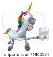 July 15th, 2018: Clipart Of A 3d Unicorn Holding A Tooth On A White Background Royalty Free Illustration by Julos