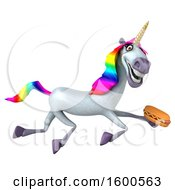 July 15th, 2018: Clipart Of A 3d Unicorn Holding A Hot Dog On A White Background Royalty Free Illustration by Julos