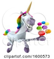 July 15th, 2018: Clipart Of A 3d Unicorn Holding Messages On A White Background Royalty Free Illustration by Julos