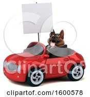 July 15th, 2018: Clipart Of A 3d Business German Shepherd Dog Driving A Convertible On A White Background Royalty Free Illustration by Julos