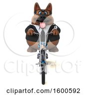 July 15th, 2018: Clipart Of A 3d Business German Shepherd Dog Biker Riding A Chopper Motorcycle On A White Background Royalty Free Illustration by Julos