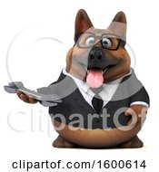 July 15th, 2018: Clipart Of A 3d Business German Shepherd Dog Holding A Wrench On A White Background Royalty Free Illustration by Julos