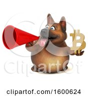 July 15th, 2018: Clipart Of A 3d German Shepherd Dog Holding A Bitcoin Symbol On A White Background Royalty Free Illustration by Julos