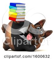 July 15th, 2018: Clipart Of A 3d Business German Shepherd Dog Holding Books On A White Background Royalty Free Illustration by Julos