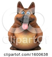 Clipart Of A 3d German Shepherd Dog On A White Background Royalty Free Illustration by Julos