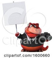 Clipart Of A 3d Red Business T Rex Dinosaur Holding A Camera On A White Background Royalty Free Illustration