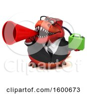 July 16th, 2018: Clipart Of A 3d Red Business T Rex Dinosaur Holding A Gas Can On A White Background Royalty Free Illustration by Julos