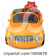July 16th, 2018: Clipart Of A 3d Red T Rex Dinosaur Driving A Convertible On A White Background Royalty Free Illustration by Julos