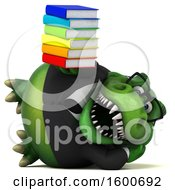 July 16th, 2018: Clipart Of A 3d Green Business T Rex Dinosaur Holding Books On A White Background Royalty Free Illustration by Julos