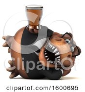 July 16th, 2018: Clipart Of A 3d Brown Business T Rex Dinosaur Holding A Beer On A White Background Royalty Free Illustration by Julos