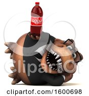 July 16th, 2018: Clipart Of A 3d Brown Business T Rex Dinosaur Holding A Soda On A White Background Royalty Free Illustration by Julos