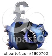 July 16th, 2018: Clipart Of A 3d Blue Business T Rex Dinosaur Holding A Pound Currency Symbol On A White Background Royalty Free Illustration by Julos