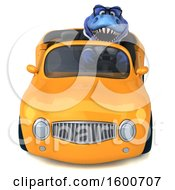 July 16th, 2018: Clipart Of A 3d Blue Business T Rex Dinosaur Driving A Convertible On A White Background Royalty Free Illustration by Julos