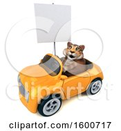 July 16th, 2018: Clipart Of A 3d Tabby Kitty Cat Driving A Convertible On A White Background Royalty Free Illustration by Julos