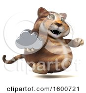 July 16th, 2018: Clipart Of A 3d Tabby Kitty Cat Holding A Cloud On A White Background Royalty Free Illustration by Julos