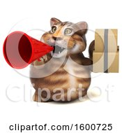 July 16th, 2018: Clipart Of A 3d Tabby Kitty Cat Holding Boxes On A White Background Royalty Free Illustration by Julos