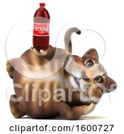 July 16th, 2018: Clipart Of A 3d Tabby Kitty Cat Holding A Soda On A White Background Royalty Free Illustration by Julos