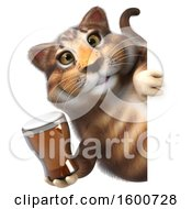 July 16th, 2018: Clipart Of A 3d Tabby Kitty Cat Holding A Beer On A White Background Royalty Free Illustration by Julos