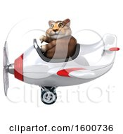 July 16th, 2018: Clipart Of A 3d Tabby Kitty Cat Flying A Plane On A White Background Royalty Free Illustration by Julos