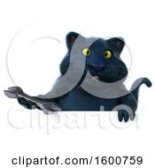July 16th, 2018: Clipart Of A 3d Black Kitty Cat Holding A Wrench On A White Background Royalty Free Illustration by Julos