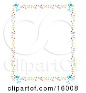Stationery Border Of Confetti And Martini Glasses Clipart Illustration