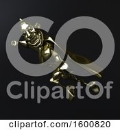 July 16th, 2018: Clipart Of A 3d Gold Super Hero On Black Royalty Free Illustration by Julos