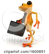 July 16th, 2018: Clipart Of A 3d Yellow Business Frog On A White Background Royalty Free Illustration by Julos
