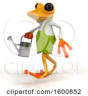 July 16th, 2018: Clipart Of A 3d Yellow Frog Gardener On A White Background Royalty Free Illustration by Julos