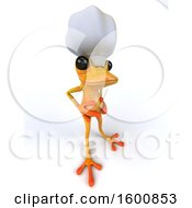 July 16th, 2018: Clipart Of A 3d Yellow Frog Chef On A White Background Royalty Free Illustration by Julos