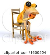 July 16th, 2018: Clipart Of A 3d Yellow Frog Sitting And Thinking On A White Background Royalty Free Illustration by Julos