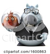 July 16th, 2018: Clipart Of A 3d Chubby White Business Horse Holding A Fish Bowl On A White Background Royalty Free Illustration by Julos