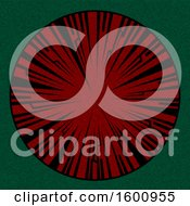 Clipart Of A Tribal Spiked Red Circle On Green Royalty Free Vector Illustration