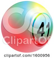 Clipart Of A 3d Colorful Bingo Or Lottery Ball Royalty Free Vector Illustration