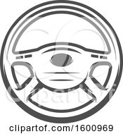 Clipart Of A Car Steering Wheel Royalty Free Vector Illustration