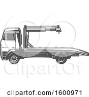 Clipart Of A Car Tow Truck Royalty Free Vector Illustration