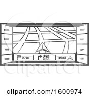 Clipart Of A Gps Screen Royalty Free Vector Illustration