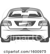 Clipart Of A Rear View Of A Car Royalty Free Vector Illustration