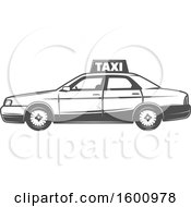 Clipart Of A Taxi Car Royalty Free Vector Illustration